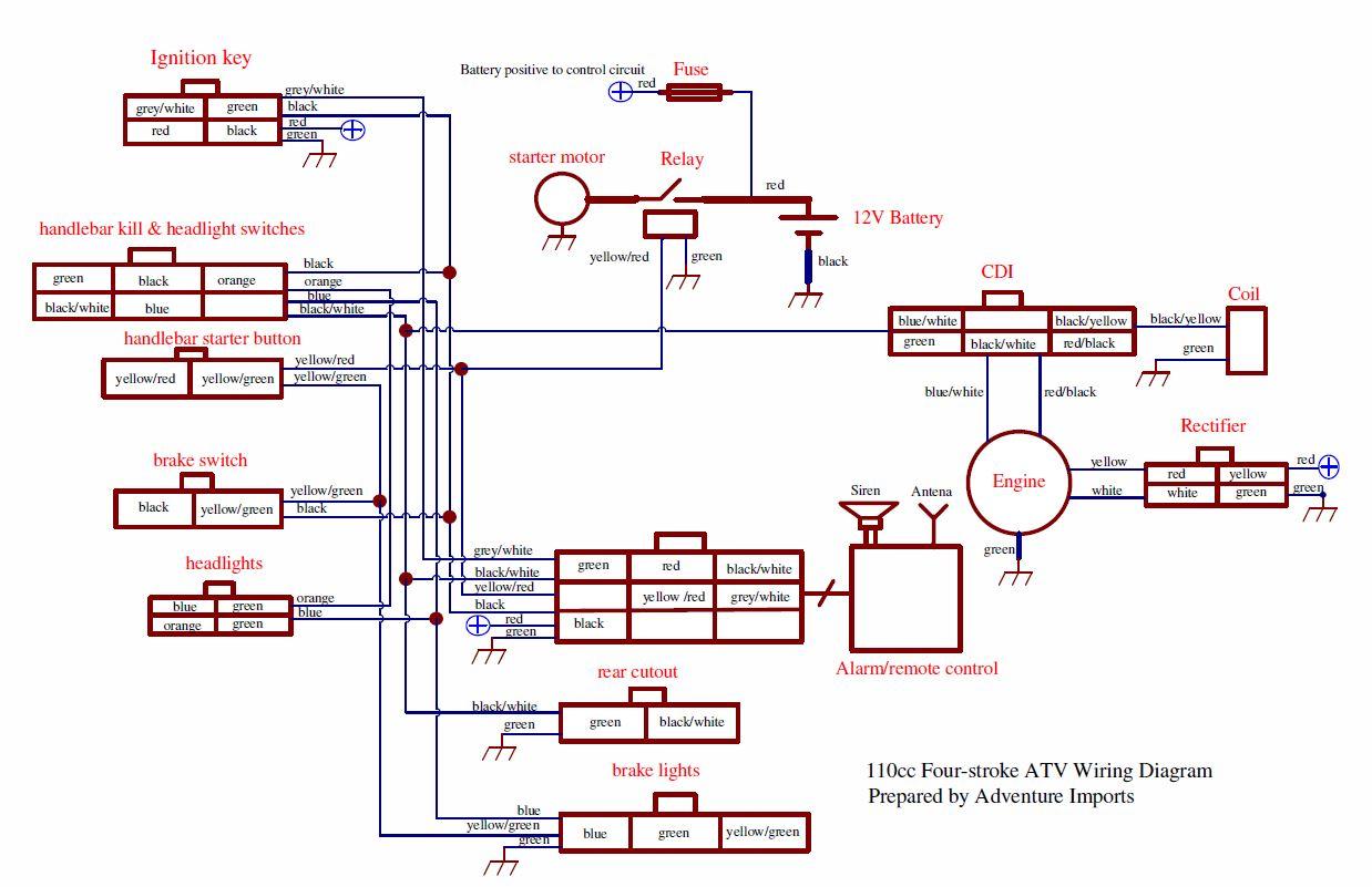 110 quad wiring diagram 1998 honda trx300fw wiring